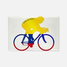 Colombian Cycling Rectangle Magnet