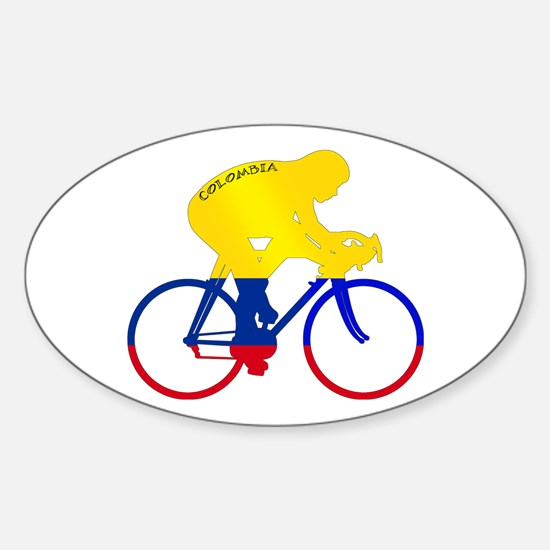 Colombian Cycling Sticker (Oval)