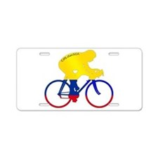 Colombian Cycling Aluminum License Plate