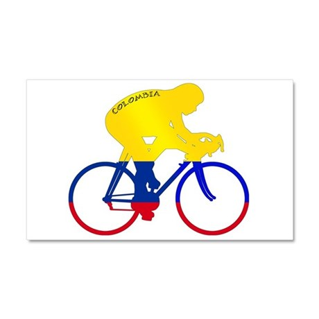 Colombian Cycling Car Magnet 20 x 12