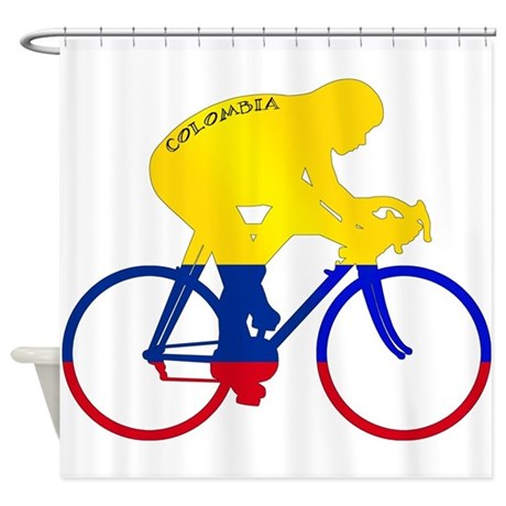 Colombian Cycling Shower Curtain