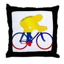 Colombian Cycling Throw Pillow