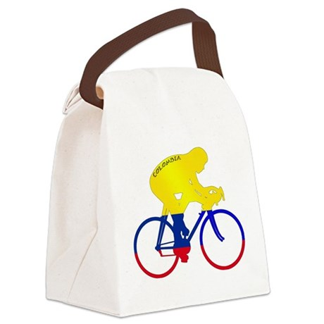 Colombian Cycling Canvas Lunch Bag