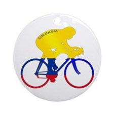 Colombian Cycling Ornament (Round)