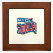The Incredible Soren Framed Tile