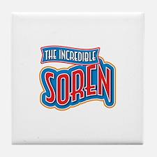 The Incredible Soren Tile Coaster