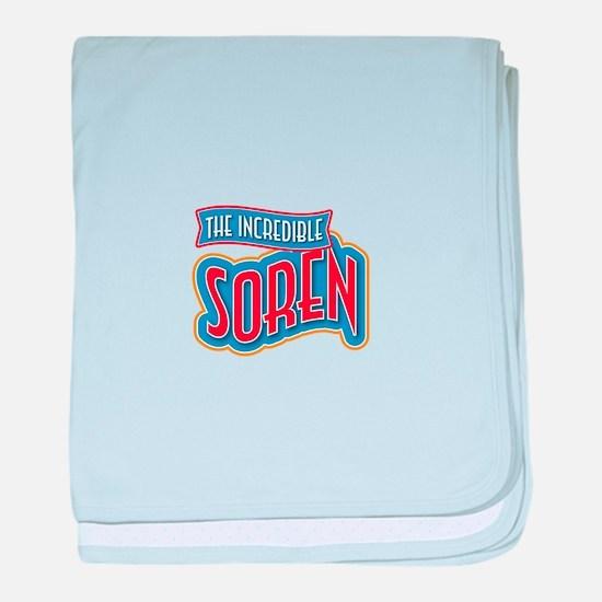 The Incredible Soren baby blanket
