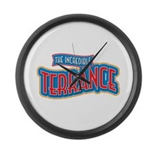 The Incredible Terrance Large Wall Clock