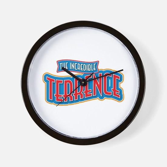 The Incredible Terrence Wall Clock