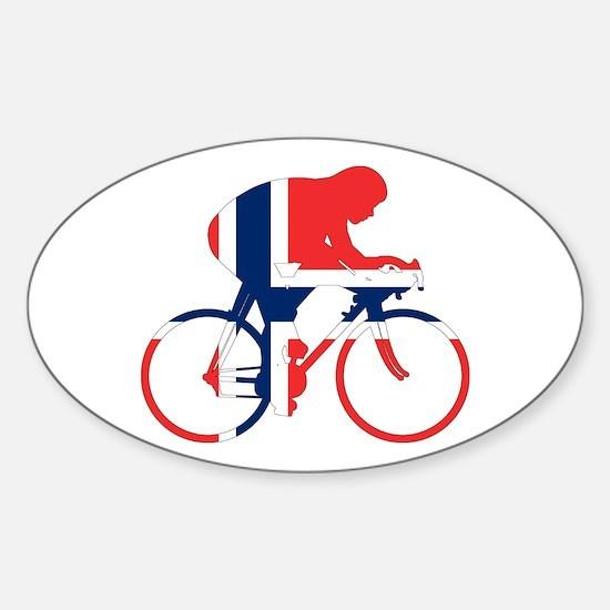 Norwegian Cycling Sticker (Oval)