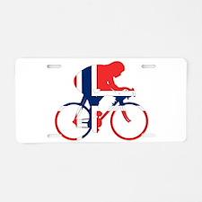 Norwegian Cycling Aluminum License Plate