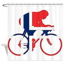 Norwegian Cycling Shower Curtain