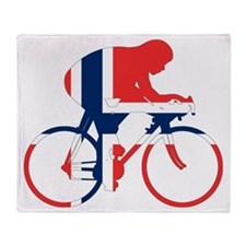 Norwegian Cycling Throw Blanket