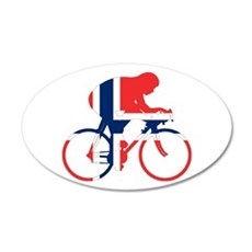 Norwegian Cycling 35x21 Oval Wall Decal