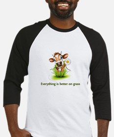 Everything is better on grass Baseball Jersey