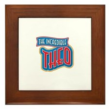 The Incredible Theo Framed Tile