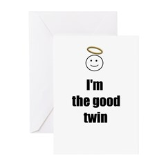 I'M THE GOOD TWIN CHRISTMAS Cards (Pk of 10)