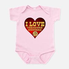 I Love Treasure Hunters Infant Bodysuit