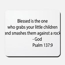 psalm 137.9 black Mousepad