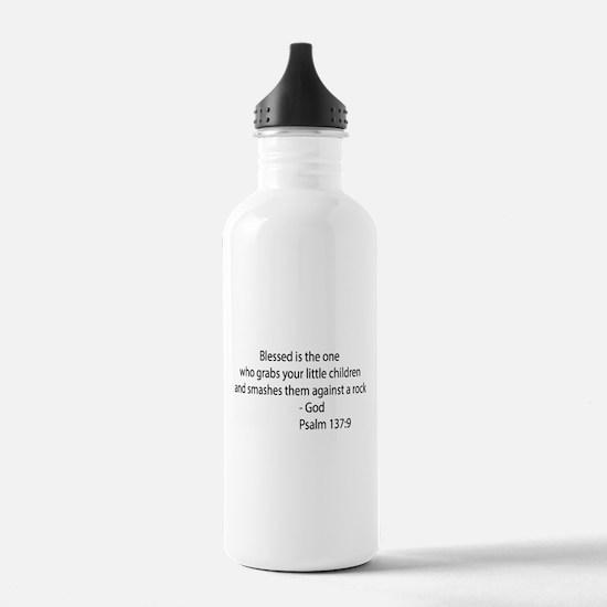 psalm 137.9 black Water Bottle