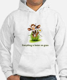Everything is better on grass Hoodie