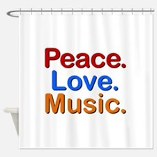 Peace Love Music Shower Curtain