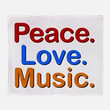 Peace Love Music Throw Blanket