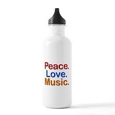 Peace Love Music Water Bottle