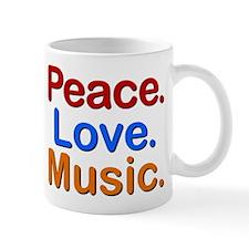 Peace Love Music Mug