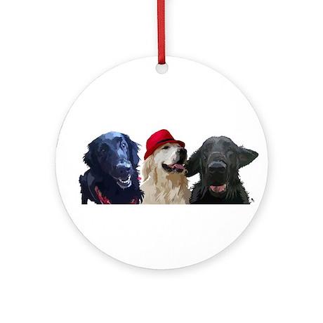 3 retrievers Ornament (Round)