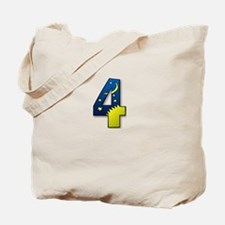 number 4 four Tote Bag