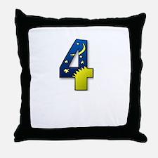 number 4 four Throw Pillow