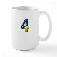 number 4 four Mug