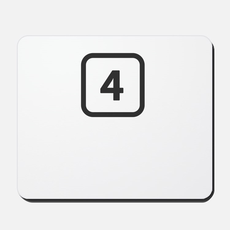 number 4 four Mousepad