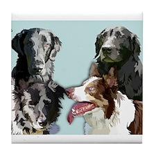 4 dogs Tile Coaster