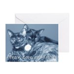"""Peace, Love, and Kitties"" Greeting Cards"