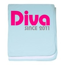 Diva Since 2011 baby blanket