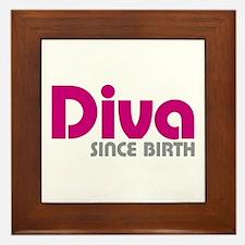 Diva Since Birth Framed Tile
