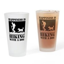 Happiness is Hiking with a Dog Drinking Glass
