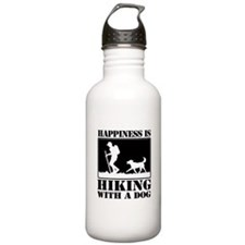 Happiness is Hiking with a Dog Water Bottle