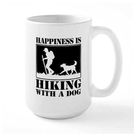 Happiness is Hiking with a Dog Mug