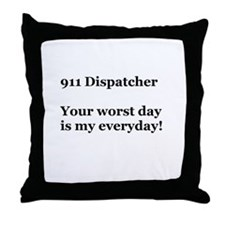 911 Dispatcher Throw Pillow