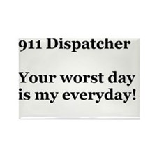 911 Dispatcher Rectangle Magnet