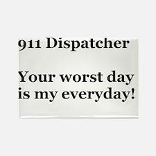 911 Dispatcher Rectangle Magnet