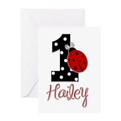 1 Ladybug HAILEY - Custom Greeting Card