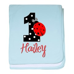 1 Ladybug HAILEY - Custom baby blanket