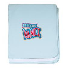The Incredible Vance baby blanket