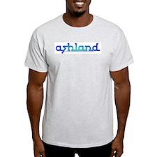 Ashland Sea Blue Ash Grey T-Shirt