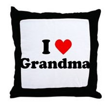 I Heart Grandma Throw Pillow