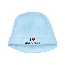 I Heart 2nd Grade baby hat